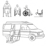 Disabled, wheelchair, ambulance