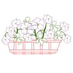 Vaso de flores em vista