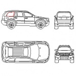 Volvo XC90 - carro dwg