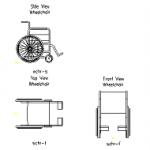 Cadeira de rodas – bloco cad