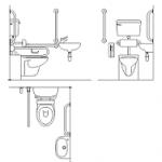 banheiro completo para deficientes físicos