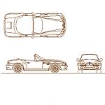 BMW Z3 - carro dwg