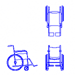 Cadeira de rodas em dwg cad