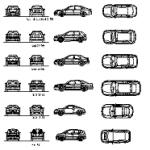 Carros Audi – dwg cad blocos