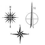Símbolos do Norte em dwg – cad blocos