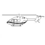 Helicóptero – bloco cad
