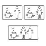 sinais WC em dwg